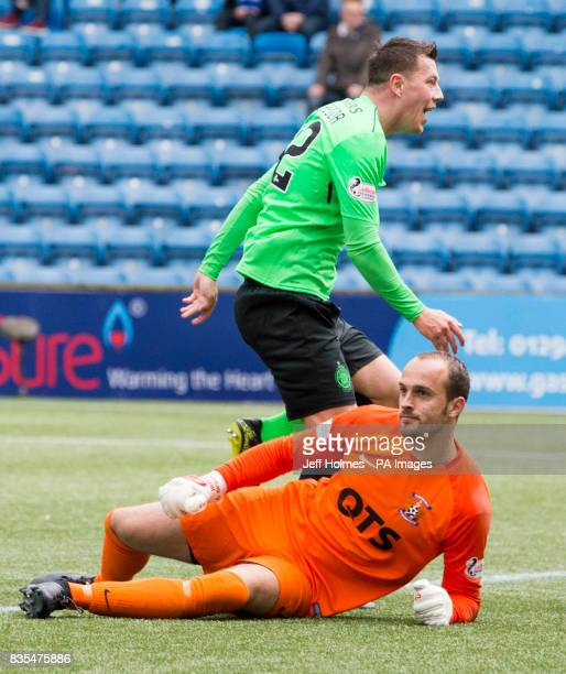 Celtic's Callum McGregor scores his side's second goal of the game during the Scottish Premiership match at Rugby Park Kilmarnock