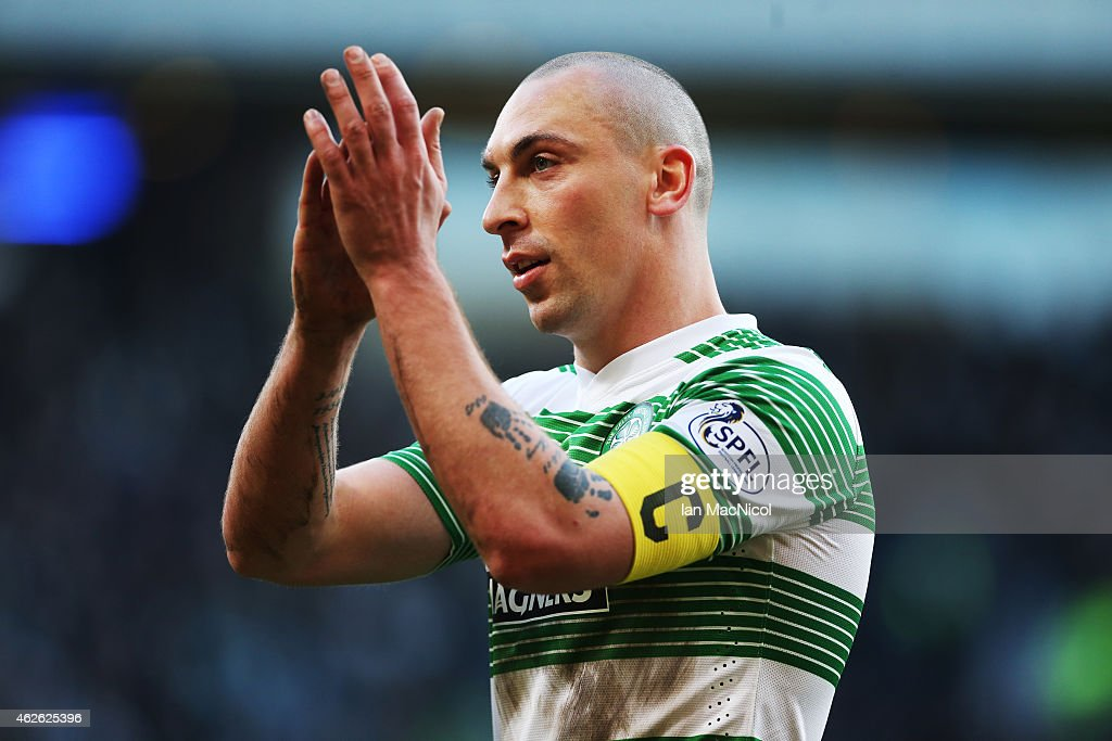 Celtic's captain Scott Brown during the Scottish League Cup Semi-Final football match between Celtic and Rangers at Hampden Park on February 01, 2015 in Glasgow, Scotland.