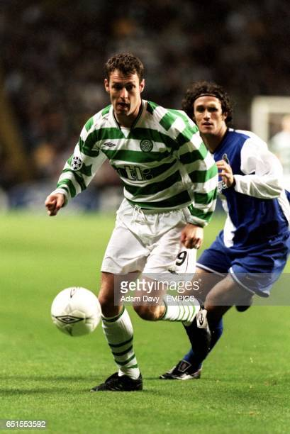 Celtic's Chris Sutton gets away from FC Porto's Paredes