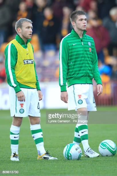 Celtic's Dylan McGeouch and Joseph Chalmers
