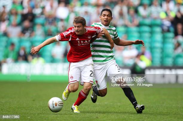 Celtic's Emilio Izaquirre and Aberdeen's Ryan Fraser during Clydesdale Bank Scottish Premier League match at Celtic Park Glasgow