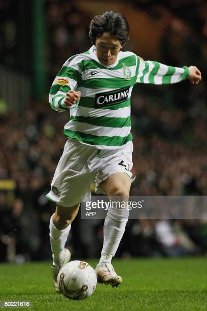 Celtic's Japanese footballer Shunsuke Nakamura is pictured during a Scottish Premier League match against Dundee at Celtic Park in Glasgow on March...