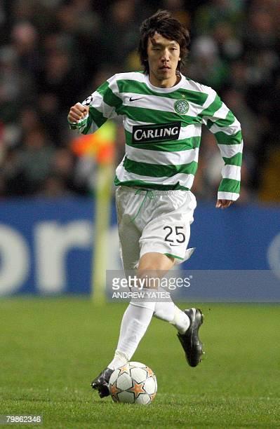 Celtic's Japanese midfielder Shunsuke Nakamura in action during their UEFA Champions League football match against Barcelona at Celtic Park Glasgow...