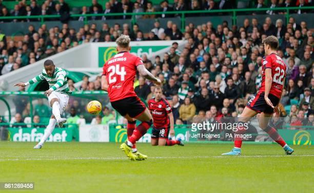 Celtic's Jules Olivier Ntcham scores his side's first goal of the game during the Ladbrokes Scottish Premiership match at Celtic Park Glasgow
