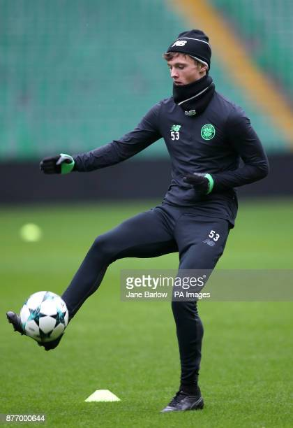 Celtic's Liam Henderson during the training session at Celtic Park Glasgow
