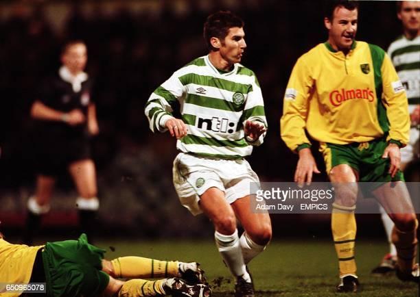 Celtic's Mark Burchill scores the third goal
