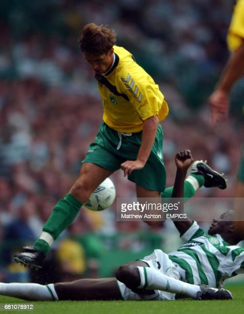 Celtic's Mohammed Sylla tackles Vadim Petrenko of Kaunas