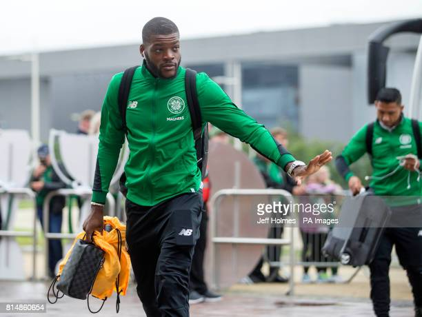 Celtic's Olivier Ntcham arrives for the preseason match at Celtic Park Glasgow