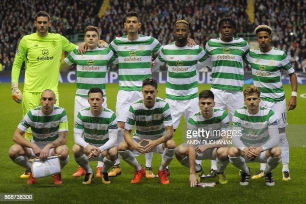 Celtic's Scottish goalkeeper Craig Gordon Celtic's Israeli midfielder Nir Bitton Celtic's Scottish midfielder Scott Brown Celtic's French striker...