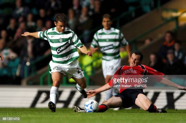 Celtic's Shaun Maloney and Falkirk's Andy Lawrie