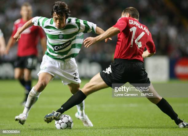 Celtic's Shunsuke Nakamura and FC Copenhagen's Michael Gravgaard