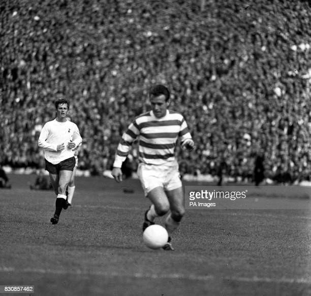 Celtic's Steve Chalmers shown in action for Celtic