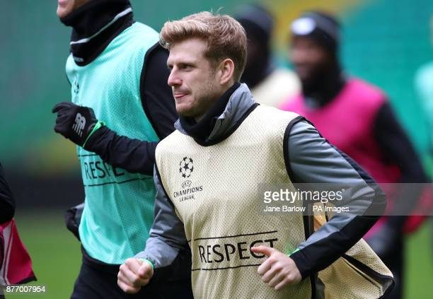Celtic's Stuart Armstrong during the training session at Celtic Park Glasgow