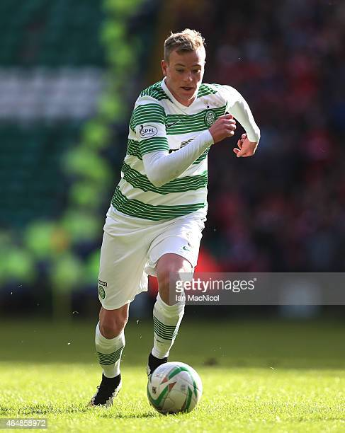 Celtic's Swedish forward John Guidetti runs with the ball during the Scottish Premier League match between Celtic and Aberdeen at Celtic Park on...