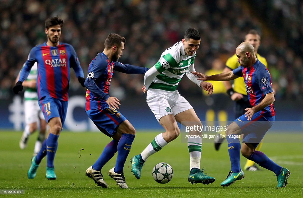Celtic v Barcelona - UEFA Champions League - Group C - Celtic Park : News Photo