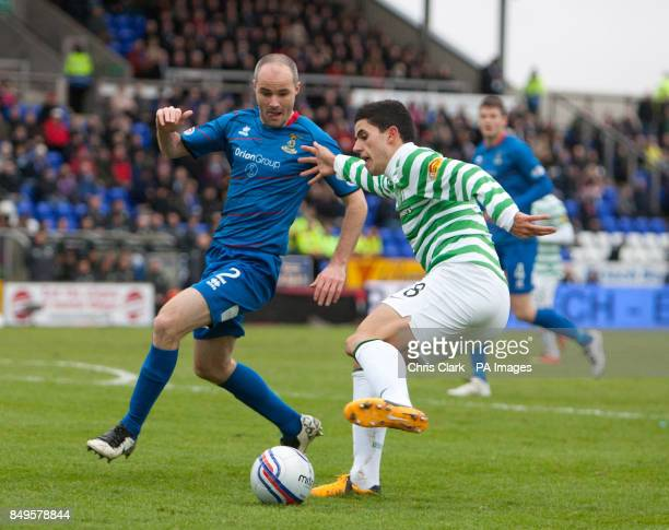Celtic's Tomas Rogic and Inverness Caledonian Thistle's David Raven battle for the ball during the Cyldesdale Bank Premier League at the Tulloch...