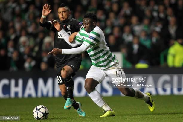 Celtic's Victor Wanyama and Juventus' Arturo Vidal battle for the ball