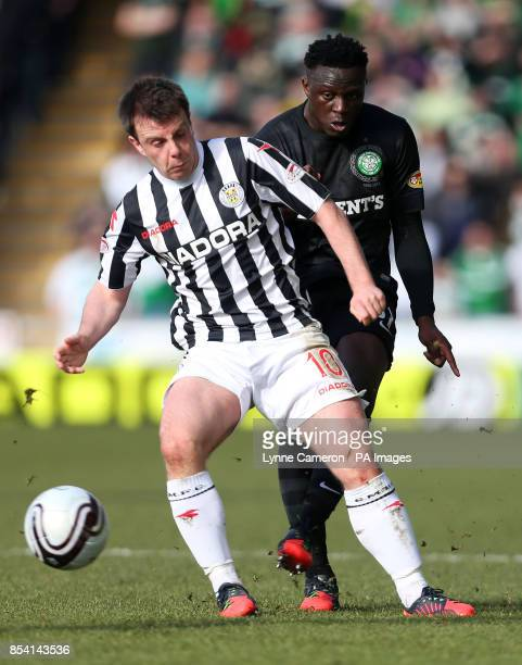 Celtic's Victor Wanyama and St Mirren's Paul McGowan during the Scottish Cup Sixth Round at St Mirren Park Paisley