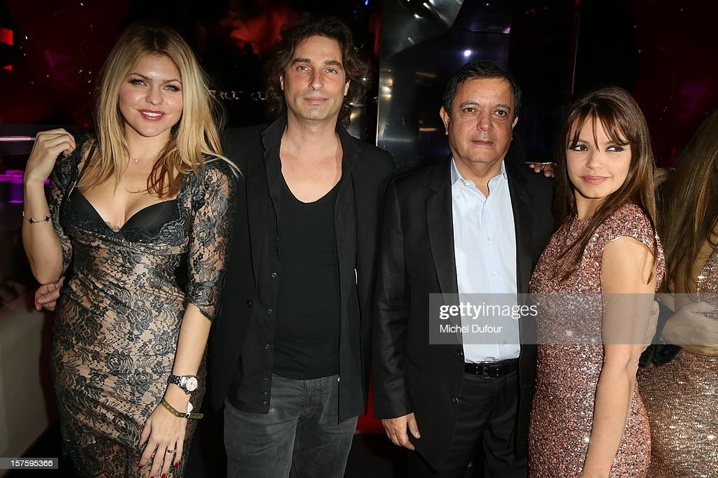 Celyne Durand, Richard Orlinski, Edouard Nahum and Severine Ferrer attend jeweler Edouard Nahum's 'Maya' collection launch cocktail party at La Gioia on December 4, 2012 in Paris, France.