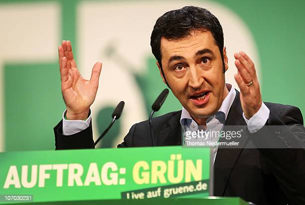 Cem Oezdemir chairman of the Greens party speaks at the Greens Party national convention on November 20 2010 in Freiburg Germany The German Greens...
