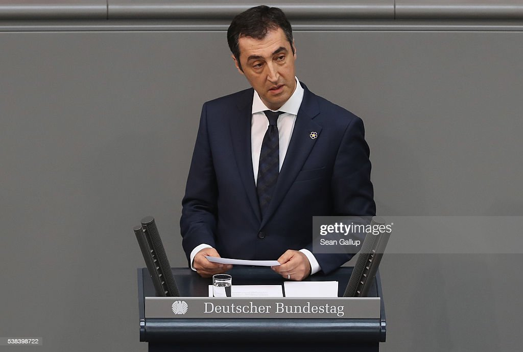 Cem Oezdemir, co-head of the German Greens party and himself of Turkish descent, speaks during discussions at the Bundestag prior to its passage of a resolution to recognize the 1915-1916 Armenian genocide on June 2, 2016 in Berlin, Germany. According to media reports on June 6, 2016, Oezdemir has received numerous death threats from people suspected to be ultra right-wing Turkish nationalists for his support of the resolution and he is now under police protection. The Turkish government has opposed any labeling of the Armenian deaths as genocide and Turkish Prime Minister Erdogan has lashed out at Germany and particularly against the Bundestag members of Turkish descent who supported the resolution.