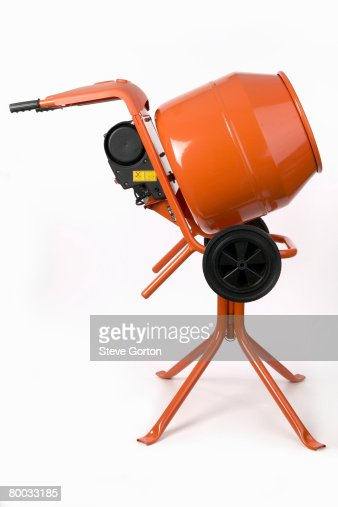 cement mixer side view stock photo getty images. Black Bedroom Furniture Sets. Home Design Ideas
