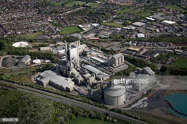 Cement plant factory in Rugby England