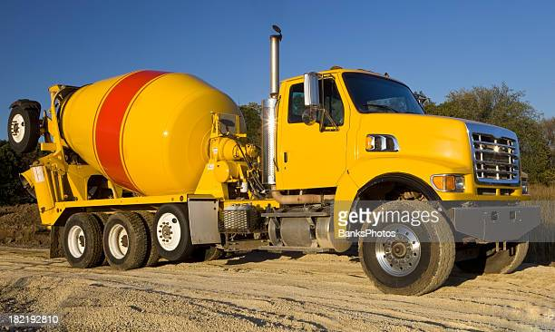Cement Truck Leaving a Construction Site