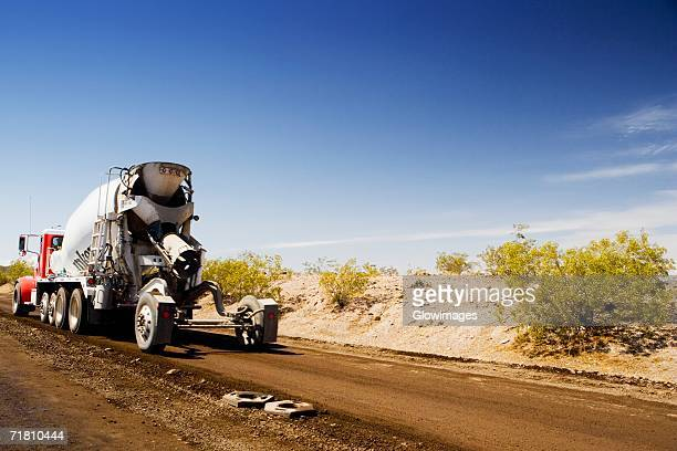 Cement truck on a road