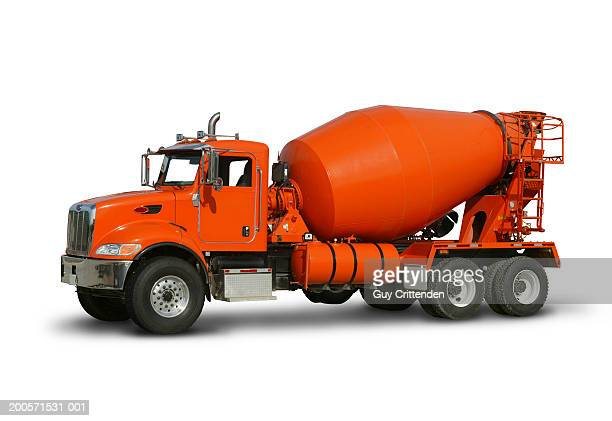 Cement truck, studio shot