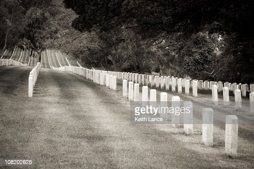 Cemetery Black And White Stock Photo | Getty Images