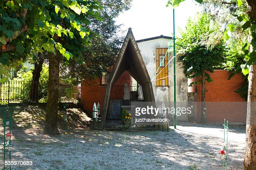 Cemetery for Italian mountain infantry : Stock Photo