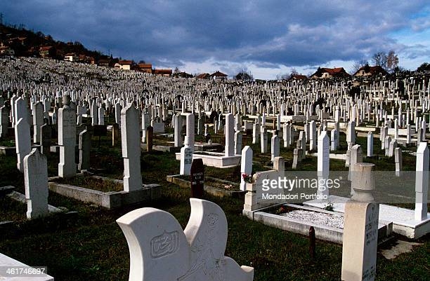 Cemetery holding the bodies of the fallen of the war in Bosnia and Herzegovina and of the fouryear long siege of the city of Sarajevo Sarajevo 1997