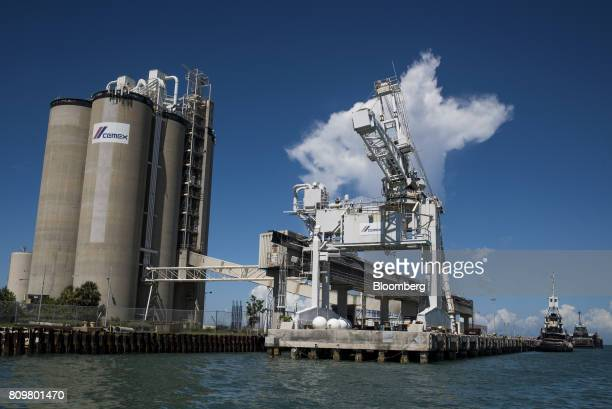 A Cemex SAB facility stands at Port Canaveral in Cape Canaveral Florida US on Wednesday July 5 2017 The US Census Bureau released trade balance of...