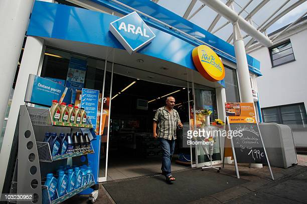 Cengiz Gehinkaya exits an Aral gas station shop owned by BP Plc in Berlin Germany on Wednesday Aug 4 2010 BP Plc has no plans to sell its German...