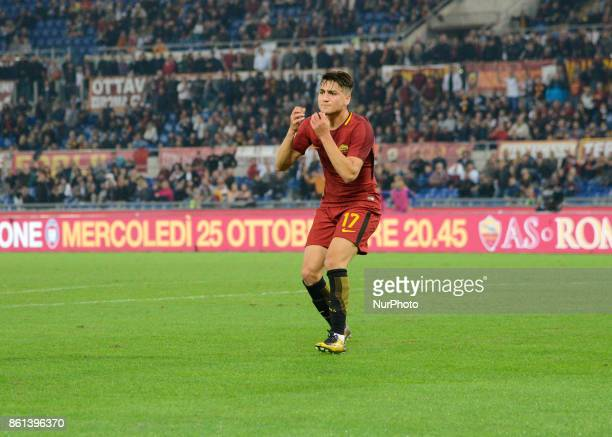 Cengiz Under during the Italian Serie A football match between AS Roma and SSC Napoli at the Olympic Stadium in Rome on october 14 2017