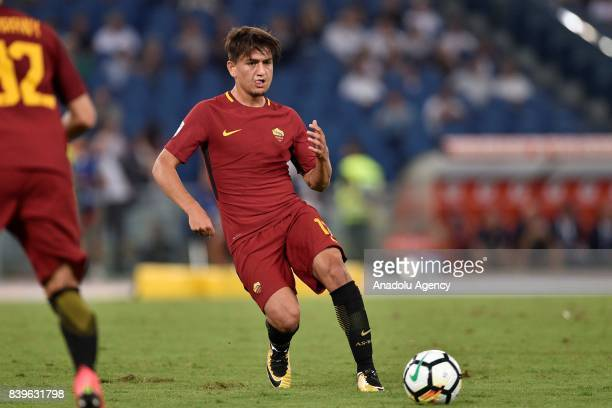 Cengiz Under of AS Roma in action during Italian Serie A soccer match between AS Roma and FC Intenational Milano at Stadio Olimpico on August 26 2017...