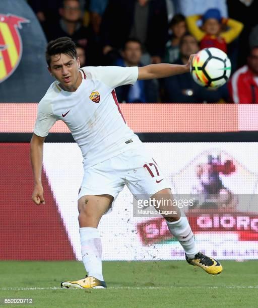 Cengiz Under of Roma during the Serie A match between Benevento Calcio and AS Roma at Stadio Ciro Vigorito on September 20 2017 in Benevento Italy