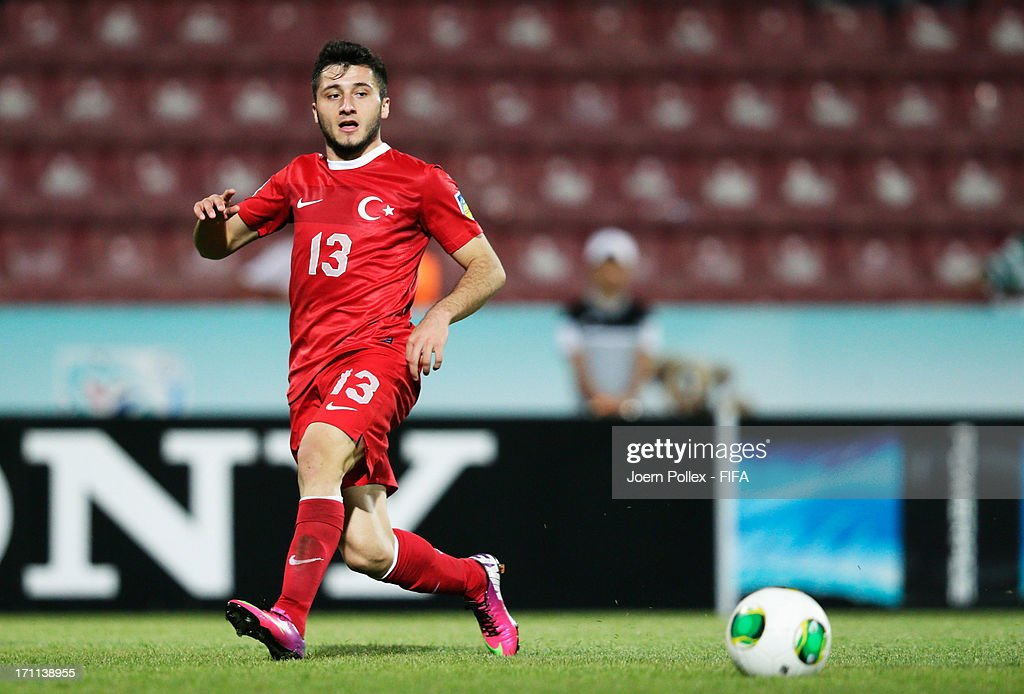 Cenk Sahin of Turkey controls the ball during the FIFA U-20 World Cup Group C match between Turkey and El Salvador at Huseyin Avni Aker Stadium on June 22, 2013 in Trabzon, Turkey.