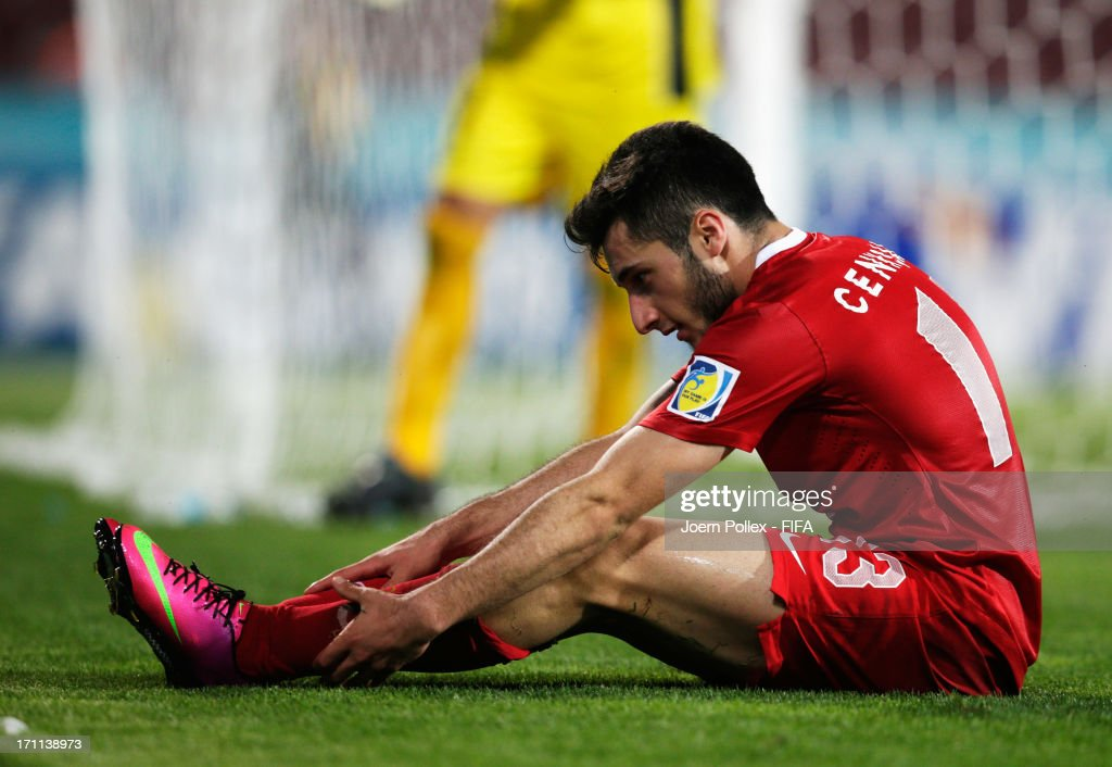 Cenk Sahin of Turkey is seen during the FIFA U-20 World Cup Group C match between Turkey and El Salvador at Huseyin Avni Aker Stadium on June 22, 2013 in Trabzon, Turkey.