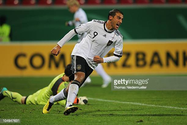 Cenk Tosun of Germany runs during the men's U20 International friendly match between Germany and Switzerland at the GAGFAH Arena on October 7 2010 in...