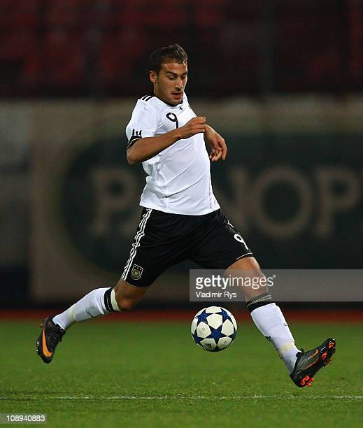 Cenk Tosun of Germany runs with the ball during the international U21 friendly match between Greece and Germany at Nea Smyrni stadium on February 9...