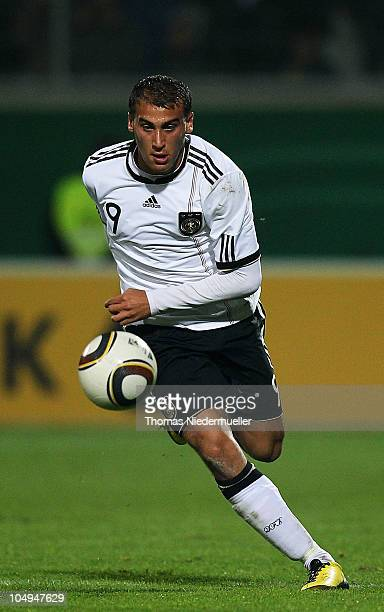 Cenk Tosun of Germany runs with the ball during the men's U20 International friendly match between Germany and Switzerland at the GAGFAH Arena on...