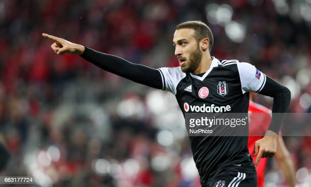 Cenk Tosun Ricardo Quaresma of Besiktas celebrates after scoring a goal during the Hapoel Beer Sheva v Besiktas match Uefa Europa League last 32 at...