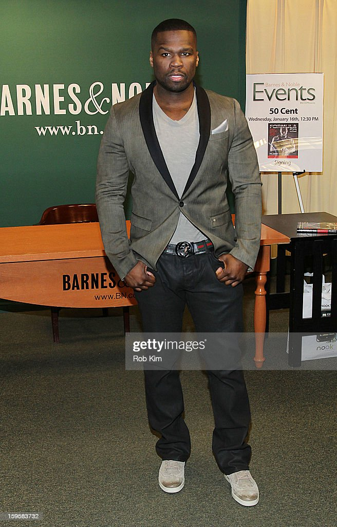 50 Cent, aka Curtis Jackson promotes his new book 'Formula 50: A 6-Week Workout and Nutrition Plan That Will Transform Your Life' at Barnes & Noble, 5th Avenue on January 16, 2013 in New York City.