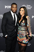Cent and Nancy Babochian attend the 'Power' Season Two Series Premiere at Best Buy Theater on June 2 2015 in New York City