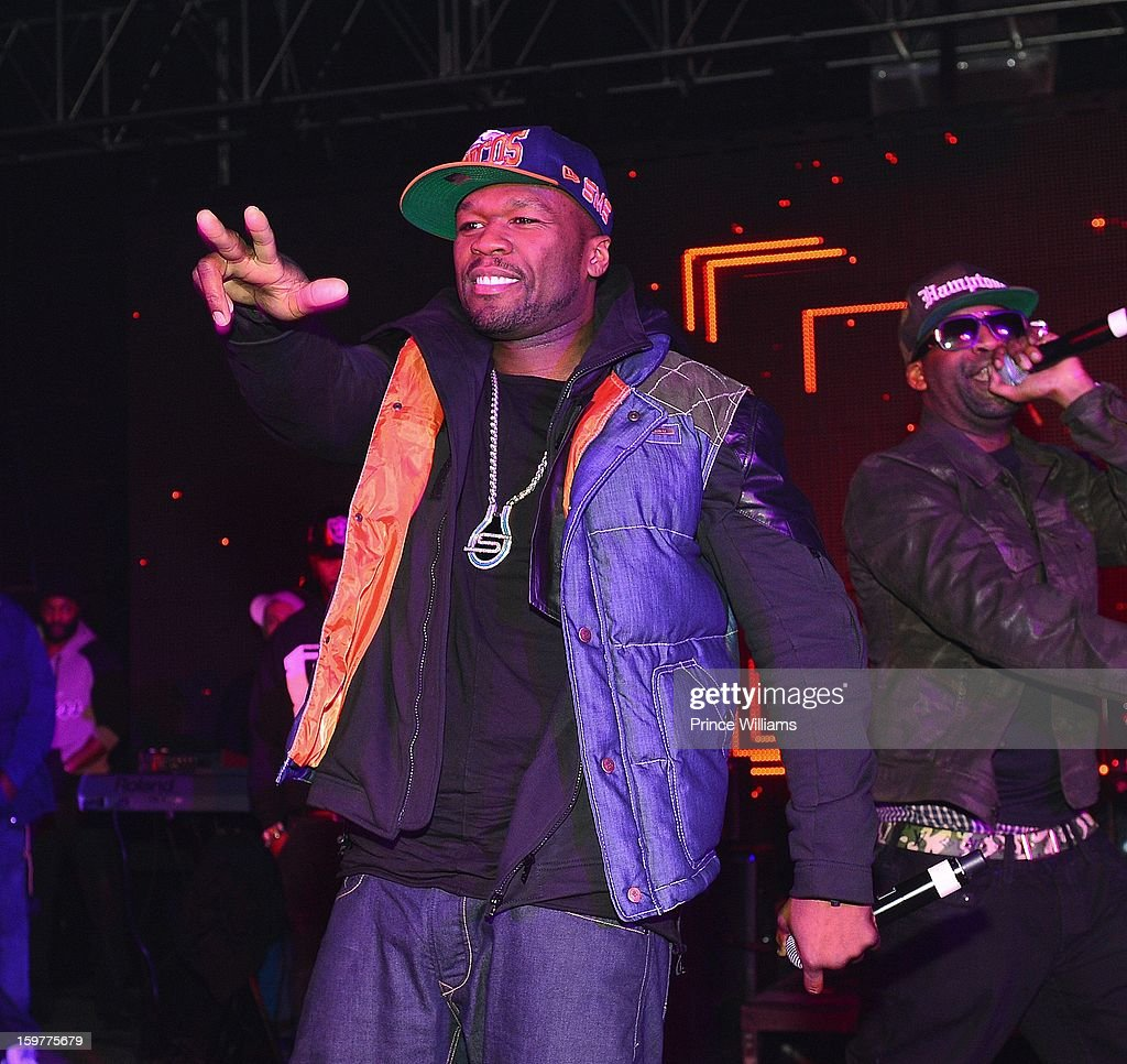 50 Cent and Tony Yayo perform at the AG Entertainment Presents Jeezy Inauguration Weekend on January 20, 2013 in Washington, United States.