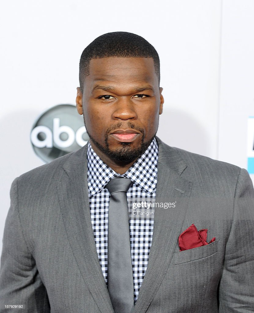 50 Cent (aka Curtis Jackson) arrives at The 40th American Music Awards at Nokia Theatre L.A. Live on November 18, 2012 in Los Angeles, California.