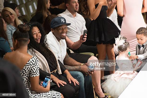 50 Cent attends his 2 year old son Sire Jackson modeling debut at the Art Hearts Fashion Show at the Taglyan Cultural Complex on March 10 2015 in...