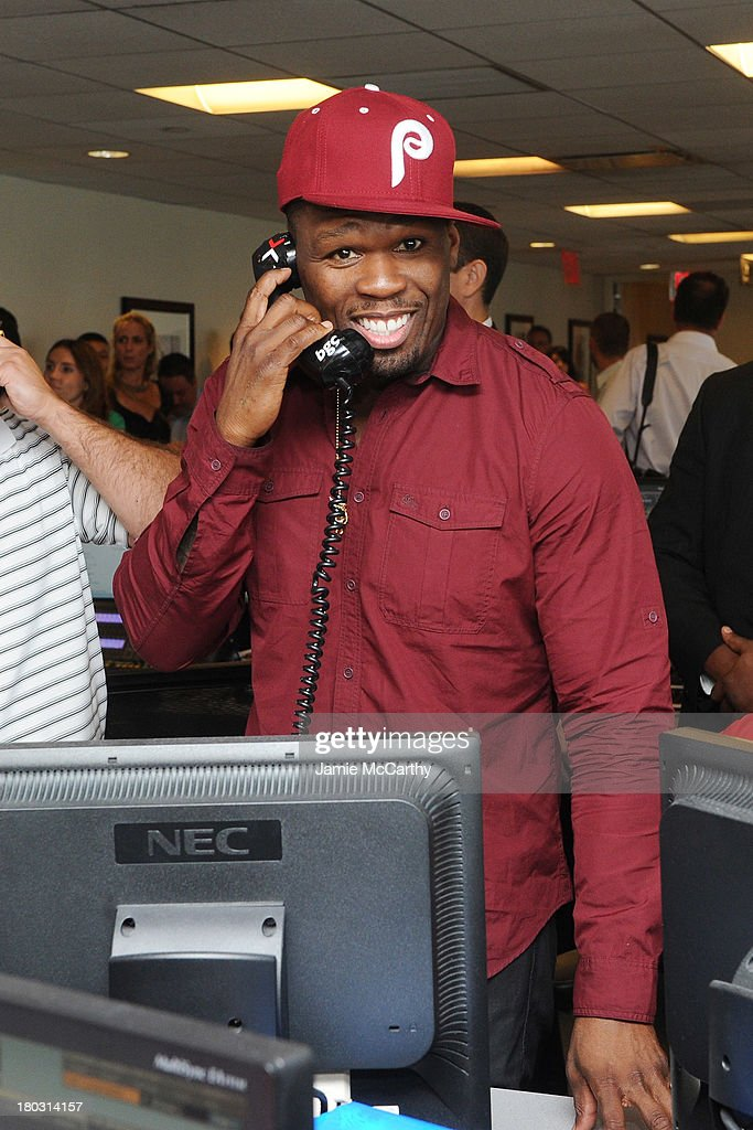 50 Cent attends the annual charity day hosted by Cantor Fitzgerald and BGC at the BGC office on September 11, 2013 in New York City.